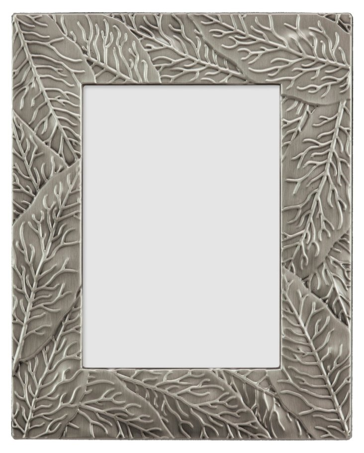 Leaves Frame, 5x7, Pewter