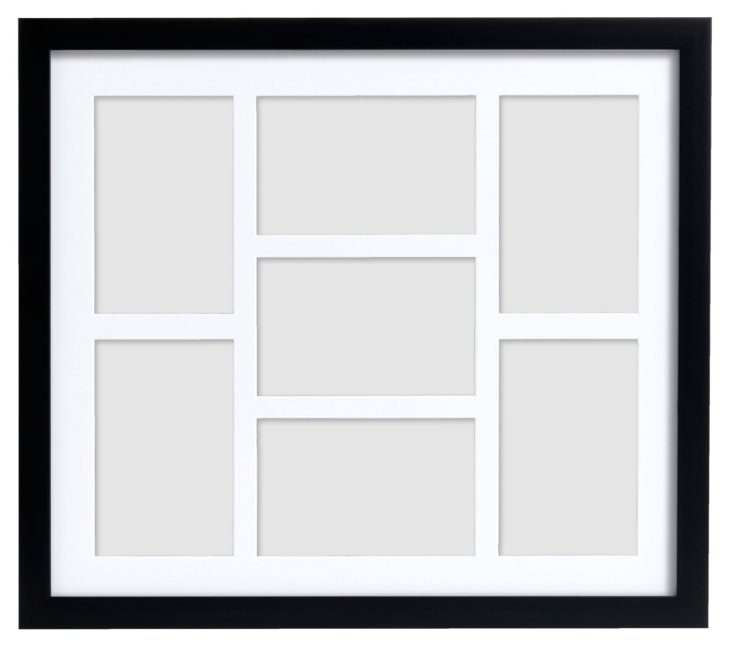 7-Photo Gallery Frame, 4x6, Black