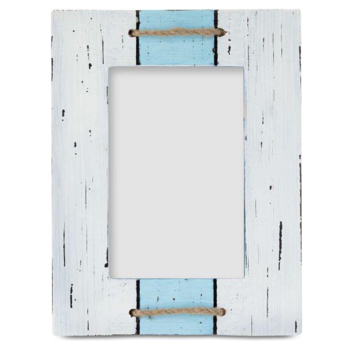 Maritime Frame, 4x6, White/Blue