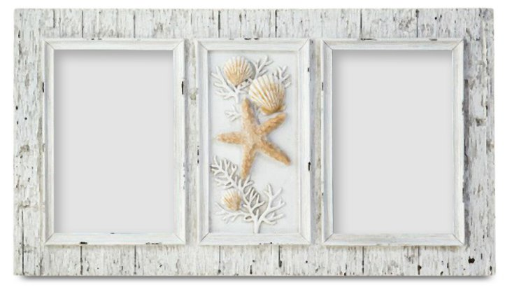 2-Photo Sand Piper Frame, 4x6, Natural