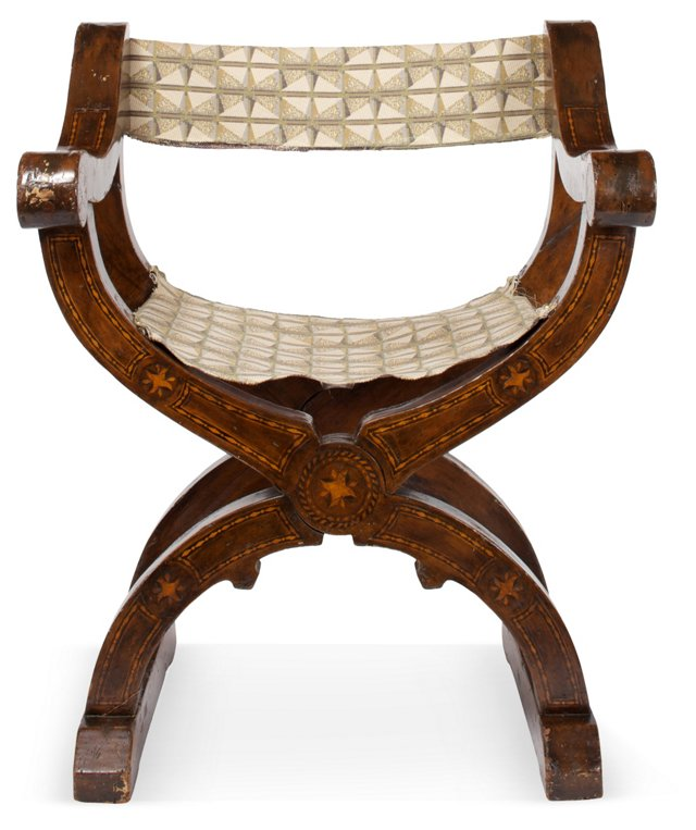 Spanish Marquetry Chair