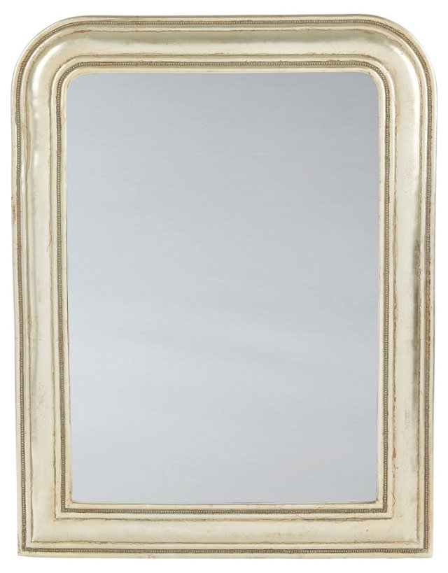 Aubrey Wall Mirror, Antiqued Silver