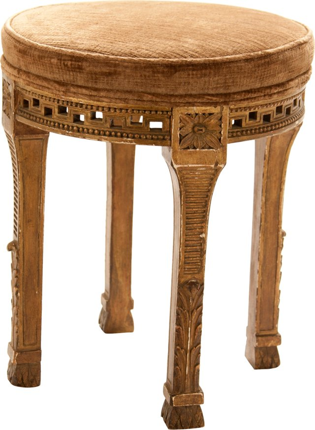 French Giltwood Stool