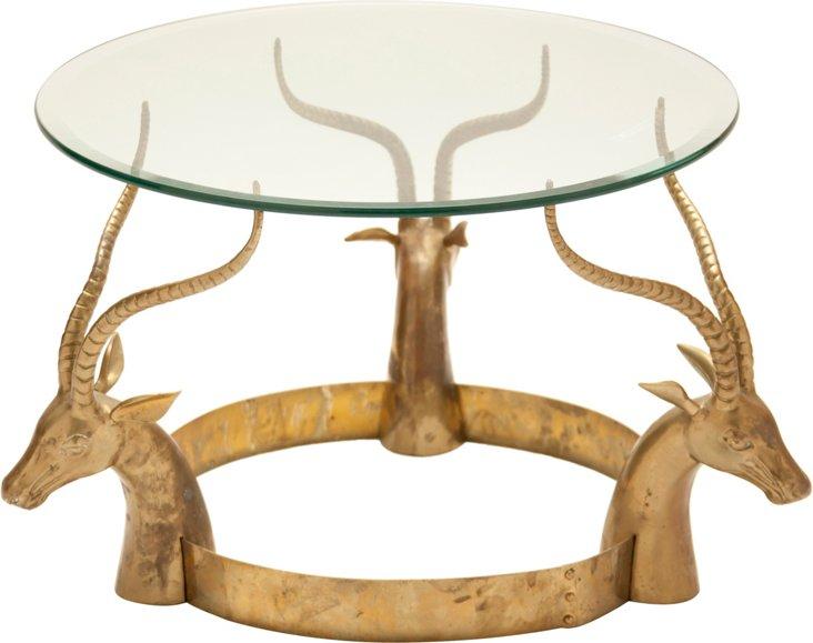 Gazelle Head Side Table