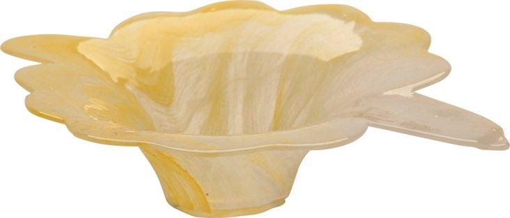 Yellow Glass Dish