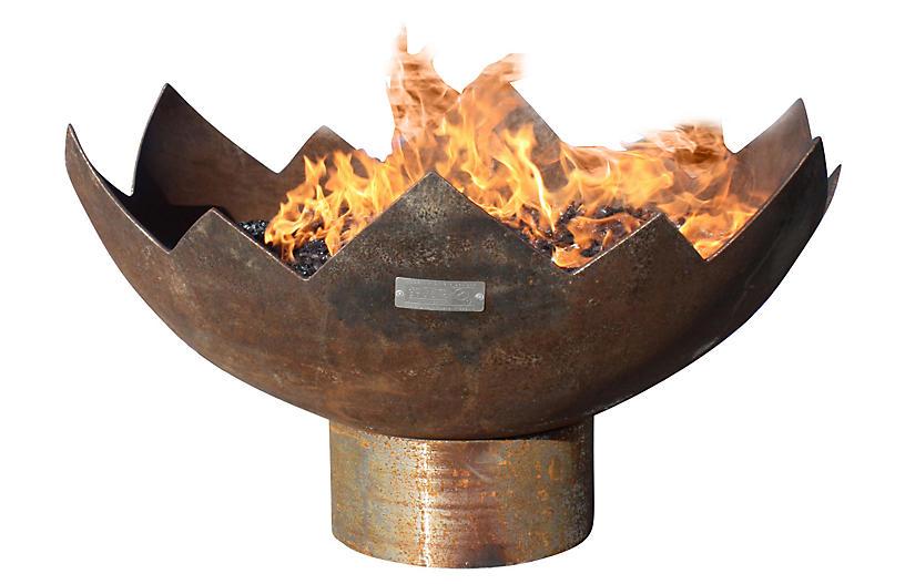 37 Quot The Lotus Fire Bowl John T Unger Sculptural Fire