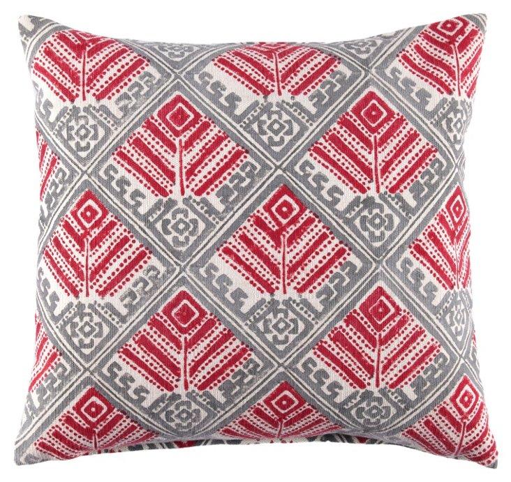 Zafaran 20x20 Pillow, Red