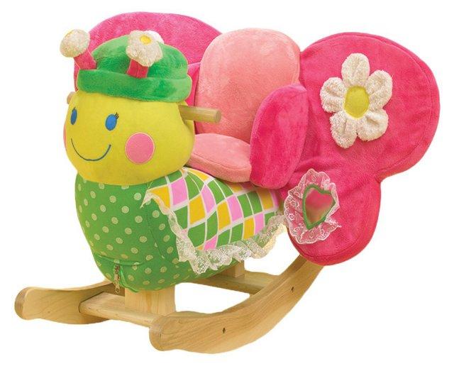 Bonita the Butterfly Rocker, Pink/Multi