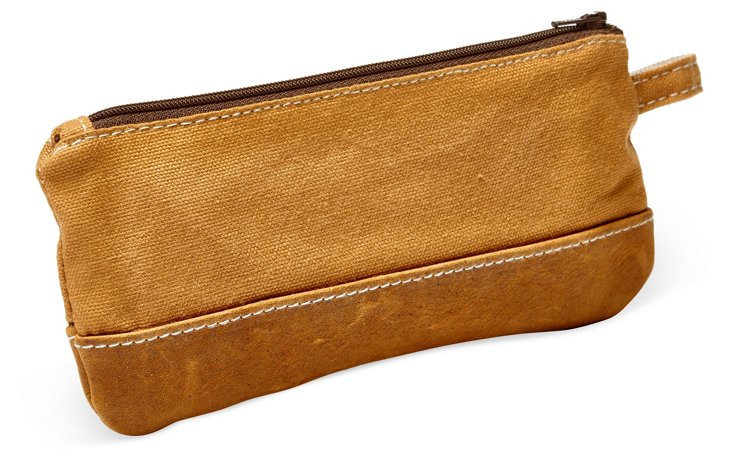 Leather Trimmed Gear Case,  Tan