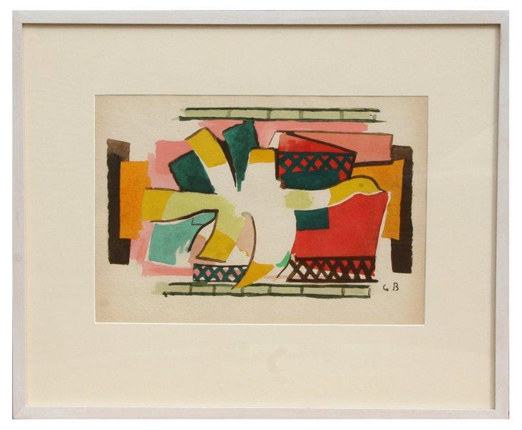 G. Braque, L'Oiseaux de Feu, Lithograph