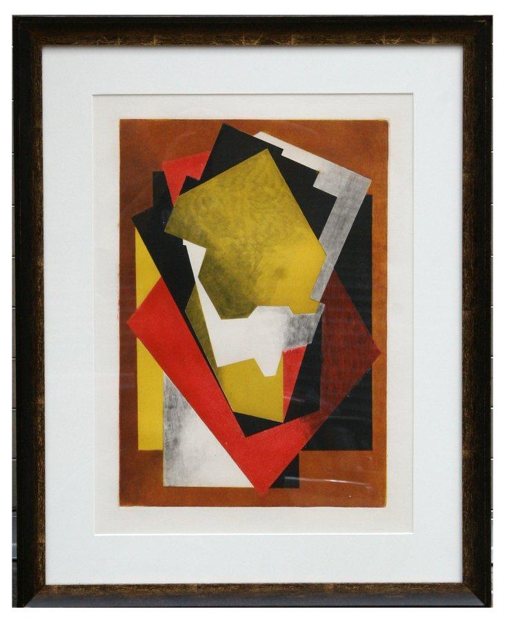 J. Villon, Composition, Aquatint Etching