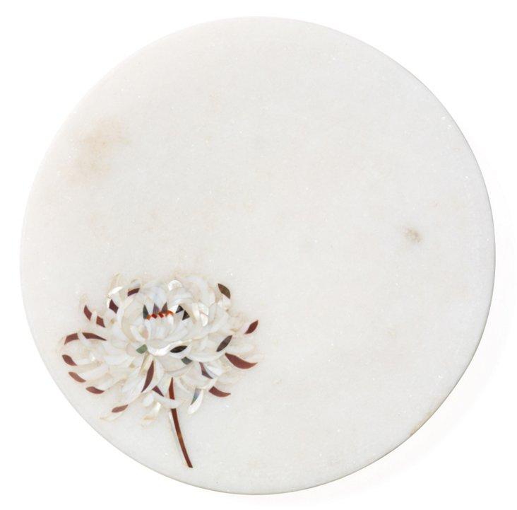 Chrysanthemum Marble Plate