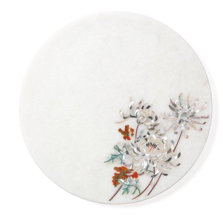 Chrysanthemum Marble Platter