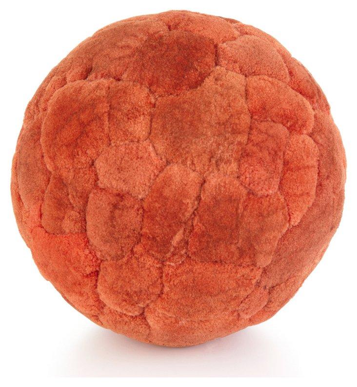 "S/2 6"" Persimmon Cattail Balls"