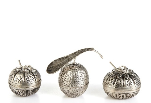 S/3 Akha Silver Treasure Boxes