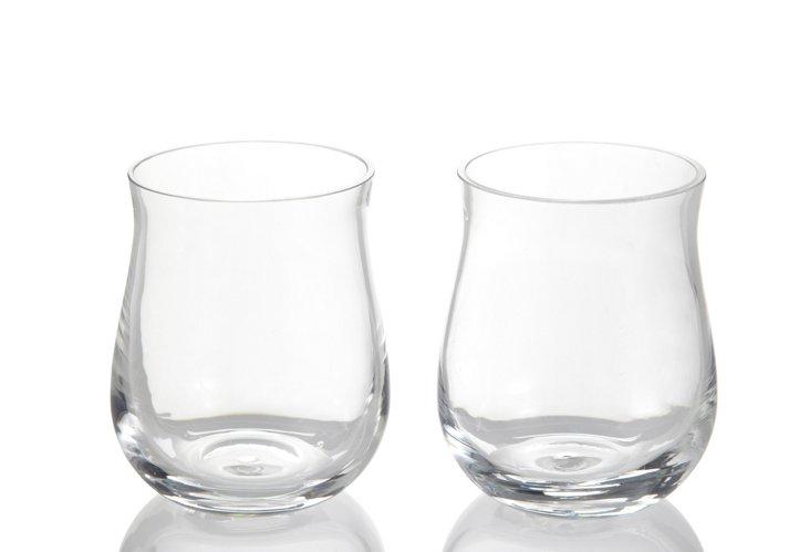 S/2 Bent Glass Tumblers