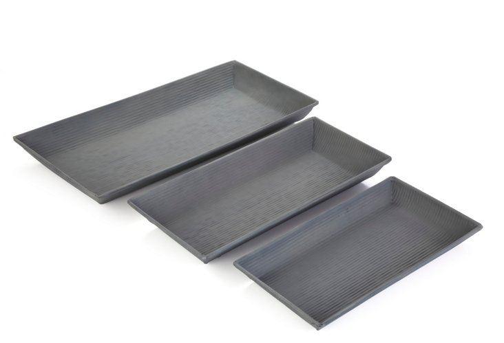 Asst. of 3 Giverny Rectangular Trays