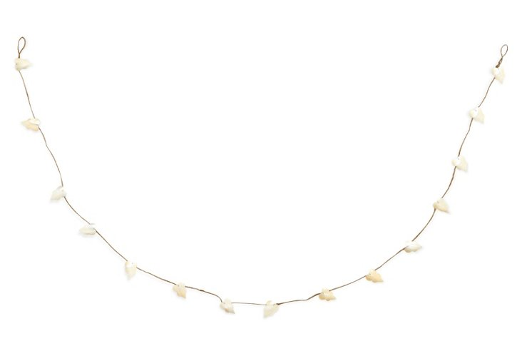 S/2 Pearly Shell Garland Leaves