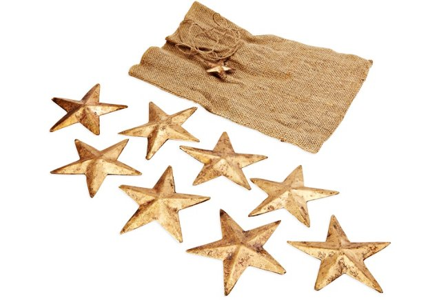S/8 Brass Stars, Large