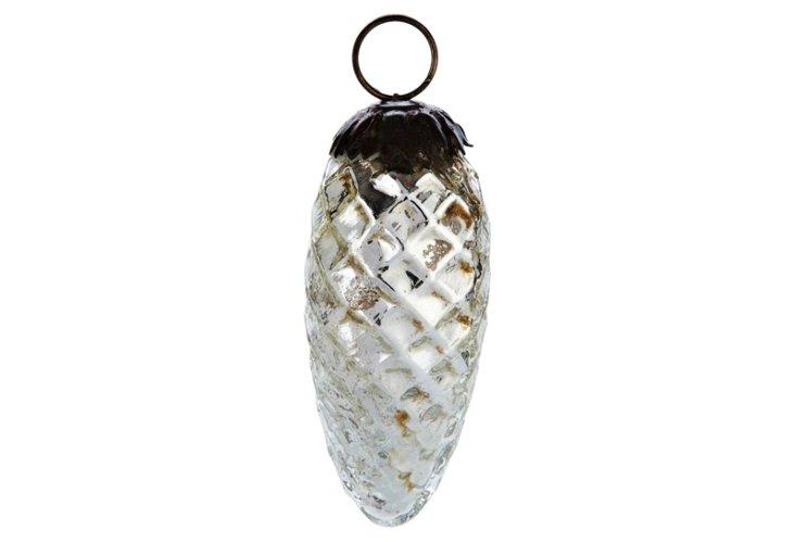 S/6 Mercury Pinecone Ornaments, Small