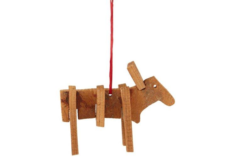 S/4 Cinnamon Bark Moose Ornaments