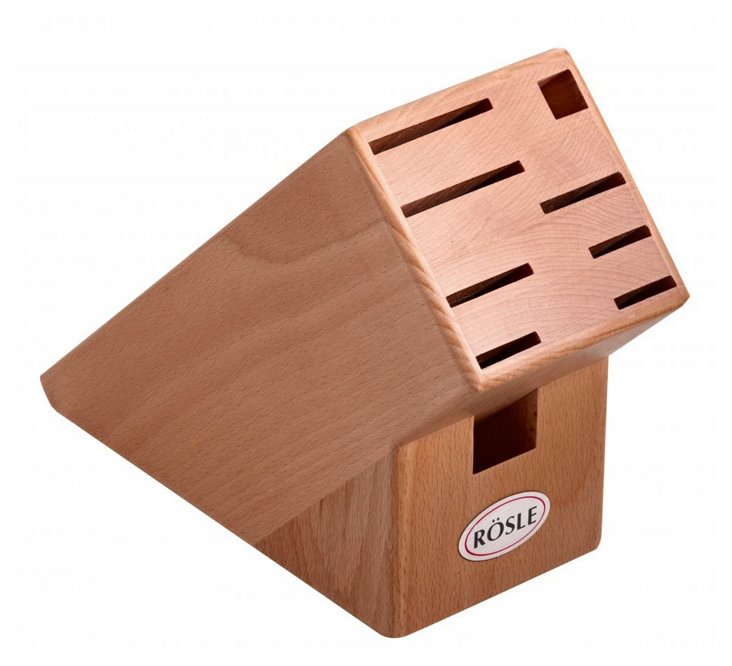 Wooden Knife Block, Natural