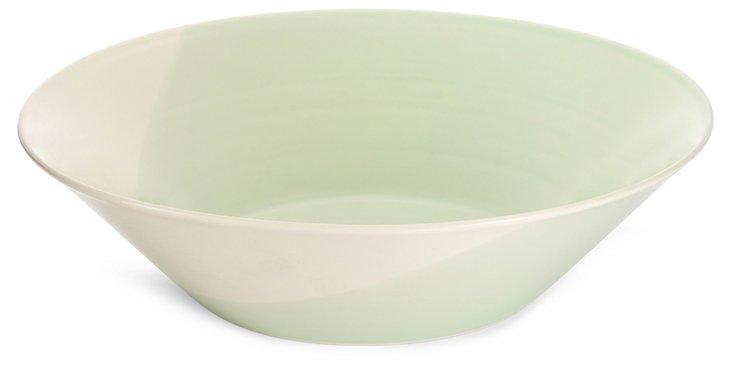 Porcelain Color Block Serving Bowl
