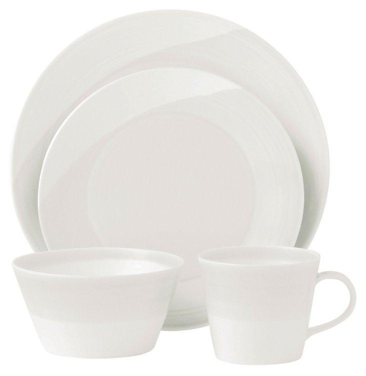 16-Pc Dinnerware Set, White