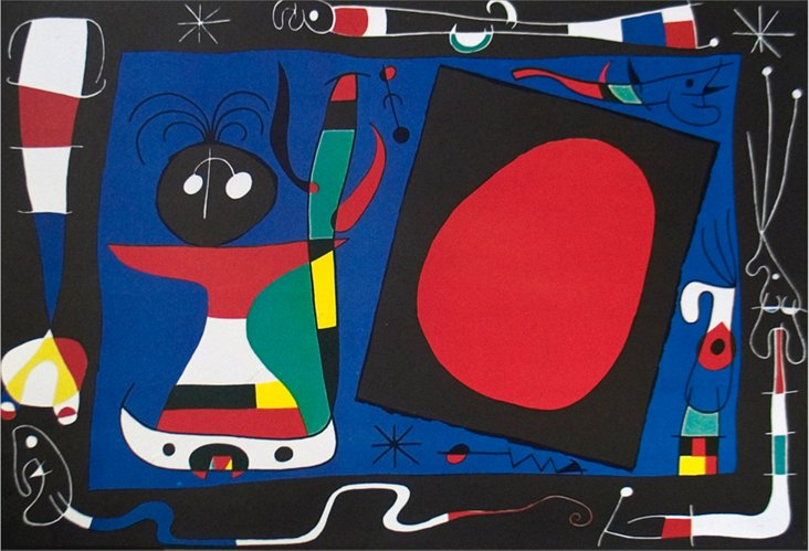 DNU Miró, Woman at the Mirror