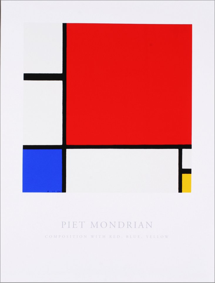 Mondrian, Composition Red Blue Yellow I