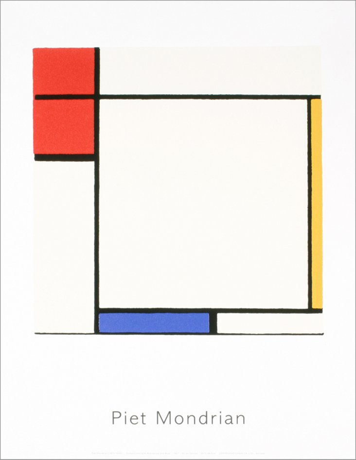 Mondrian, Composition Red Blue Yellow II