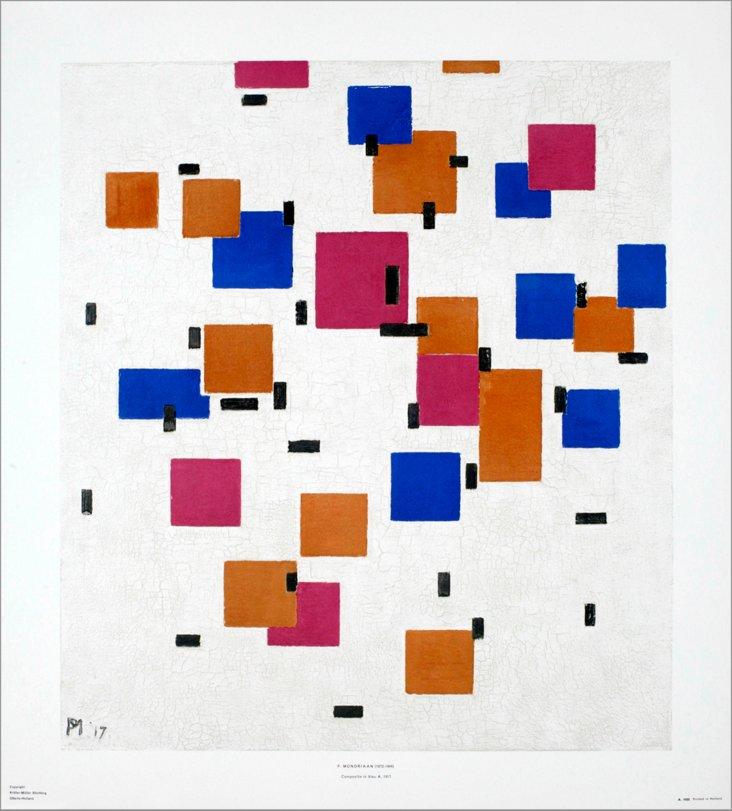 Piet Mondrian, Composition in Bleu A