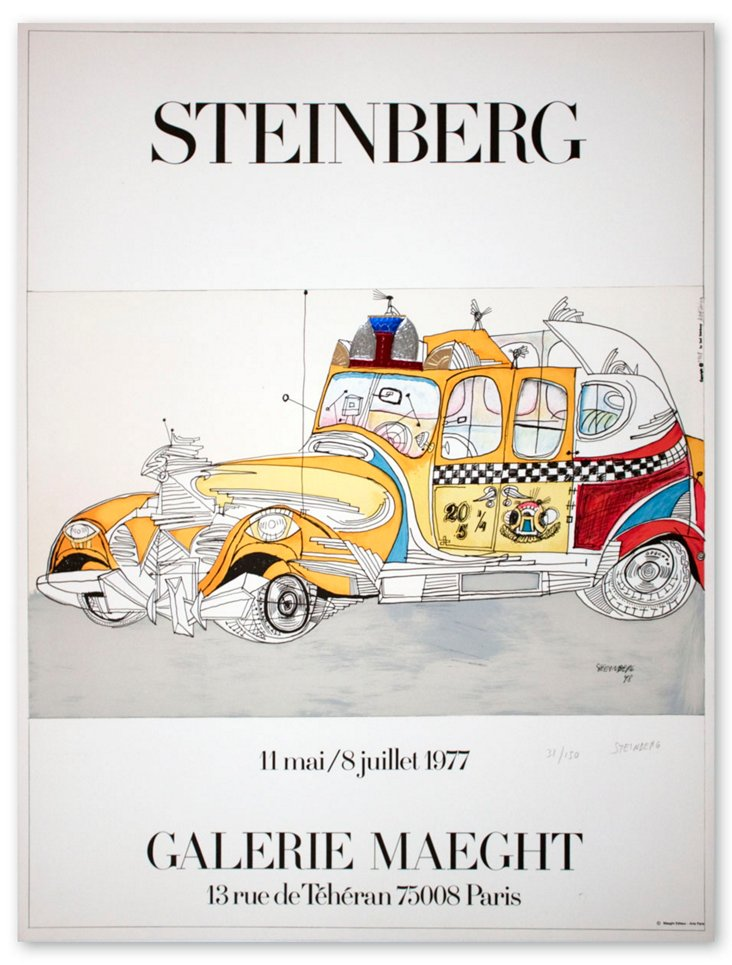 Saul Steinberg, Taxi-Signed