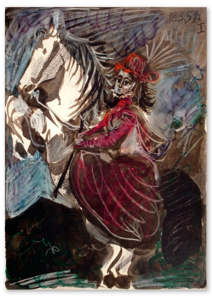 Pablo Picasso, Paloma as a Rider