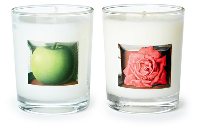 Set of 2 Magritte Candles