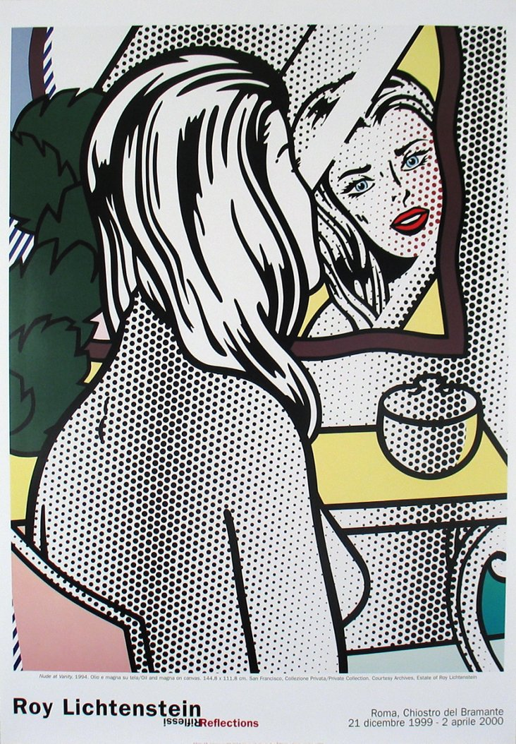 Roy Lichtenstein, Nude At Vanity
