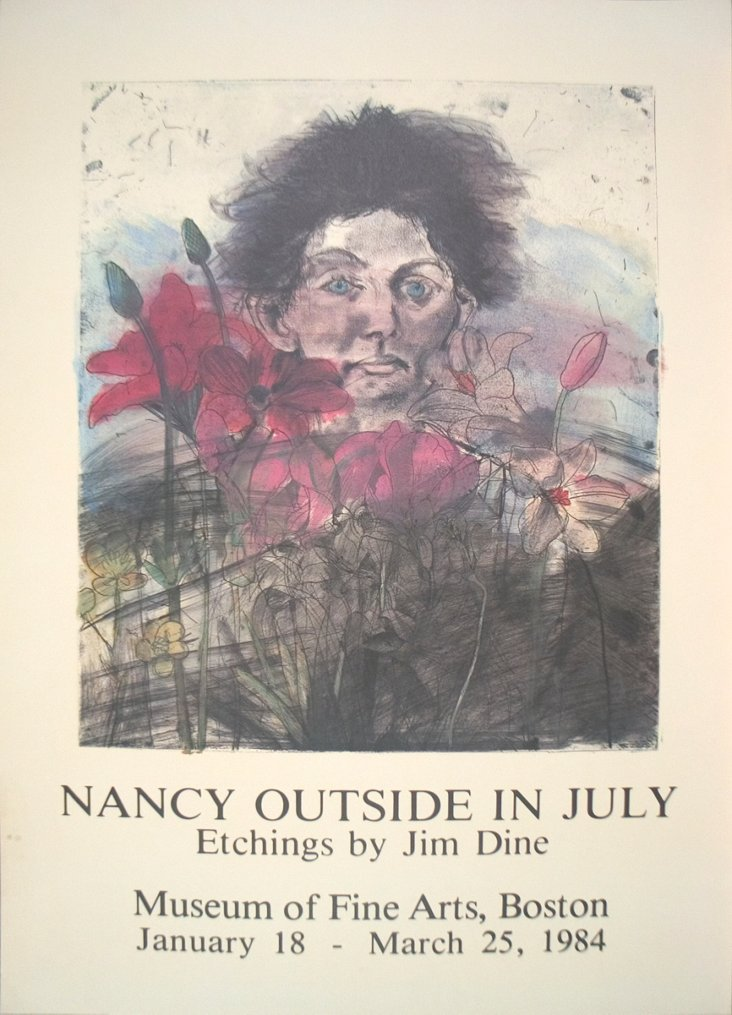 Jim Dine, Nancy Outside in July