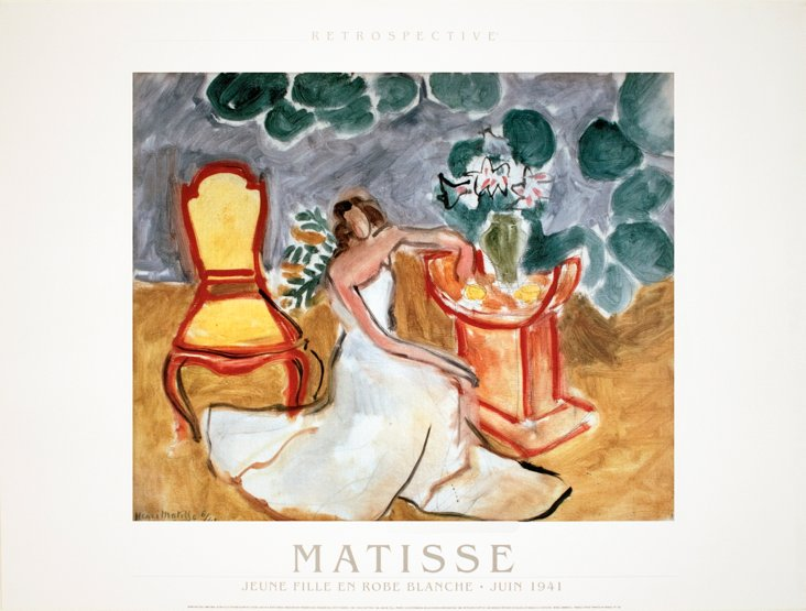 Matisse, Young Lady in a White Dress