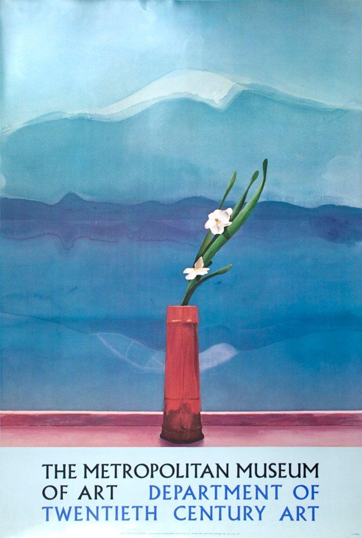 David Hockney, Mount Fuji with Flowers