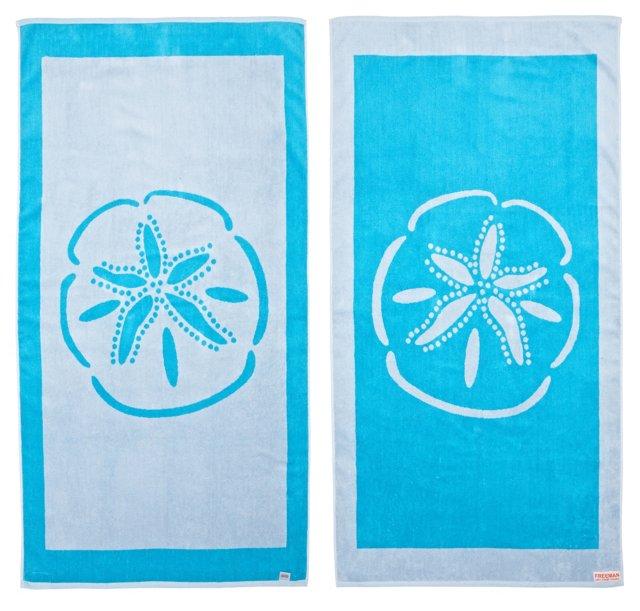 Sand Dollar Beach Towel, Turquoise