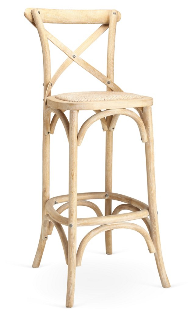 "30"" Barstool, Whitewash"