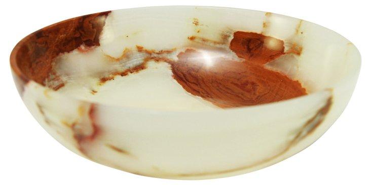 "10"" Laurus Onyx Bowl, Light Green/Brown"