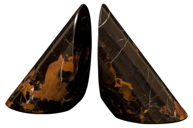 Pair of Vantage Point Marble Bookends