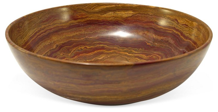 """12"""" Onyx Bowl, Brown"""