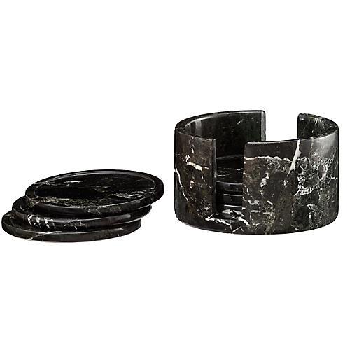 S/6 Traver Coasters, Black/White