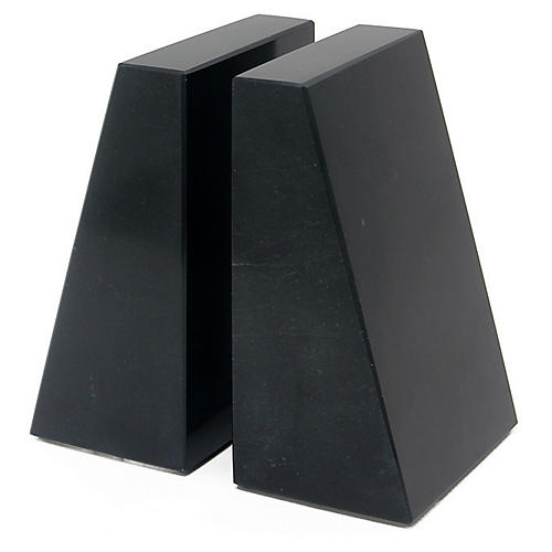 "6"" Cutler Bookends, Jet Black"
