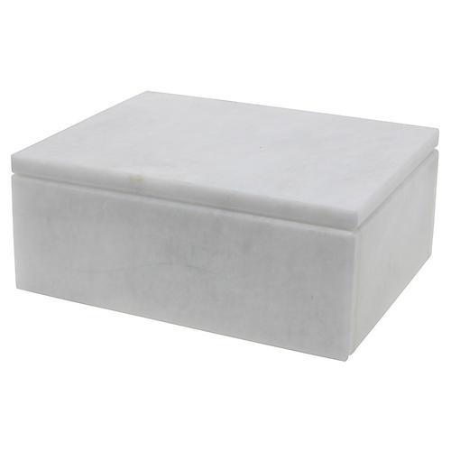 "5"" Carson Keepsake Box, Pearl White"