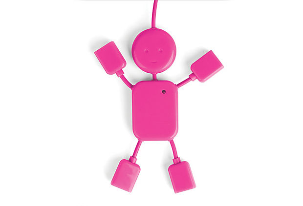 USB Hubman, Pink