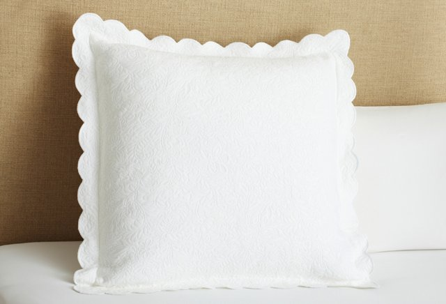 Butterfield Matelassé Euro Sham, White