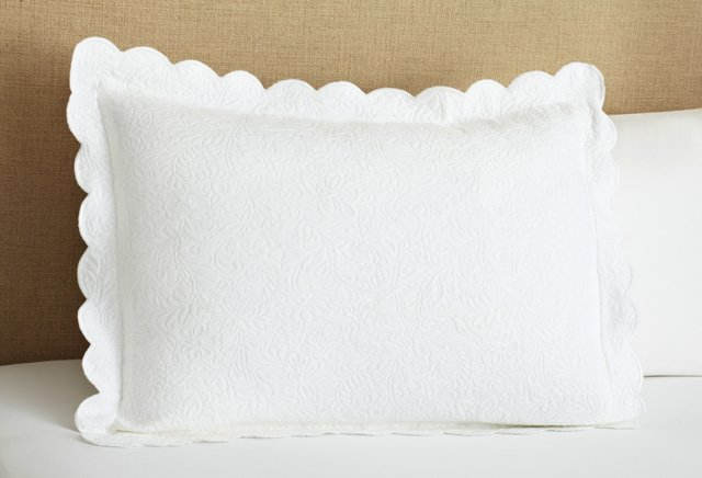 Butterfield Matelassé  Sham, White